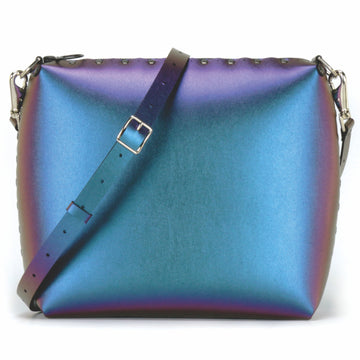 Large peacock crossbody bag with crossbody stap