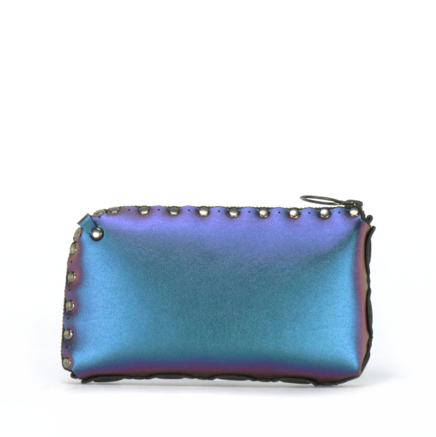 Rear view of peacock wallet bag