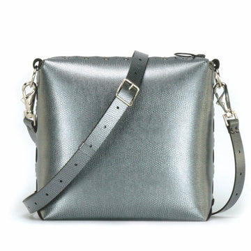 Pewter medium crossbody bag with strap