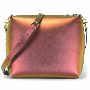 Large ruby crossbody bag with strap