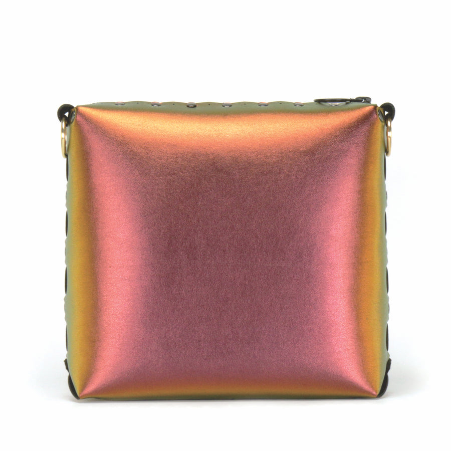 Front view of ruby medium crossbody bag without strap