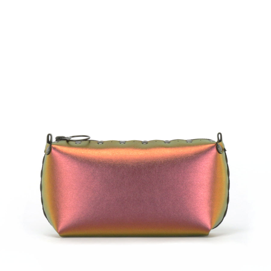 Rear view of ruby mini bag
