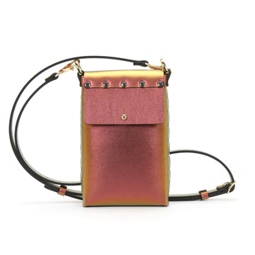 Red Iridescent Mobile Crossbody Bag