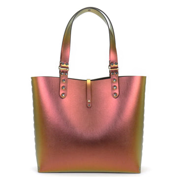 Red Iridescent Vegan Leather Tote Bag