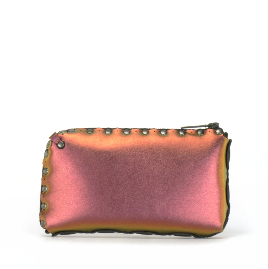 Rear view of ruby wallet bag