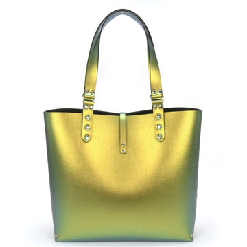 Gold Iridescent Vegan Leather Tote Bag