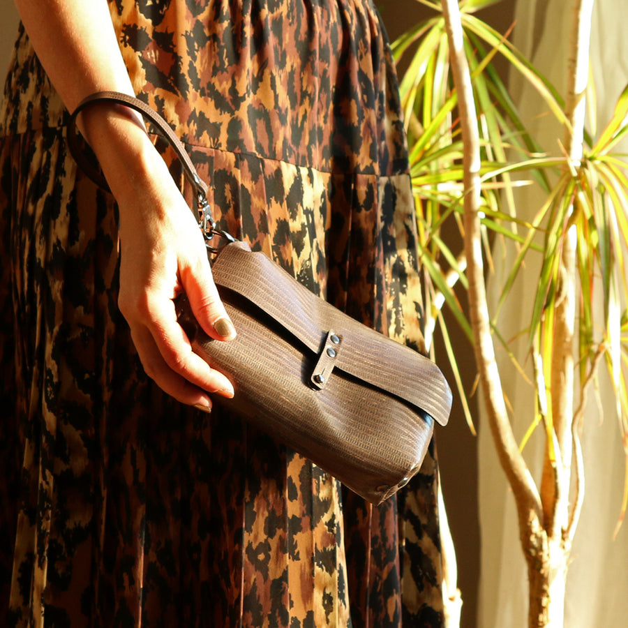 Vegan leather wristlet by Mohop