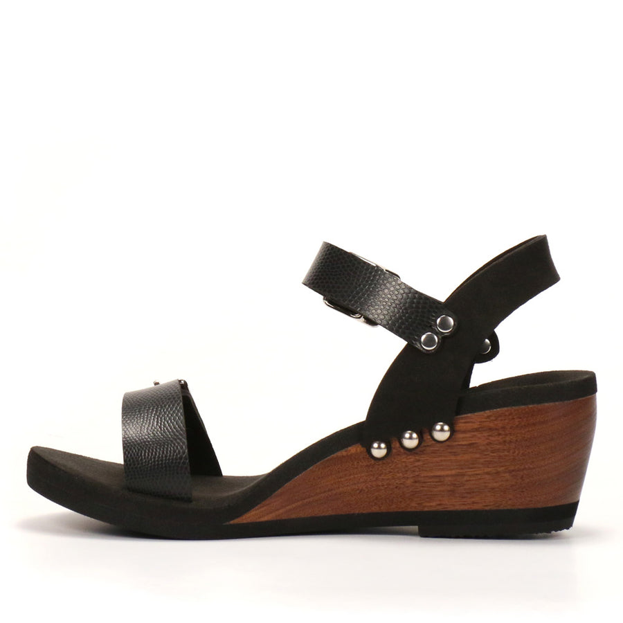 Ebony Mid Wedge Ankle - Mohop