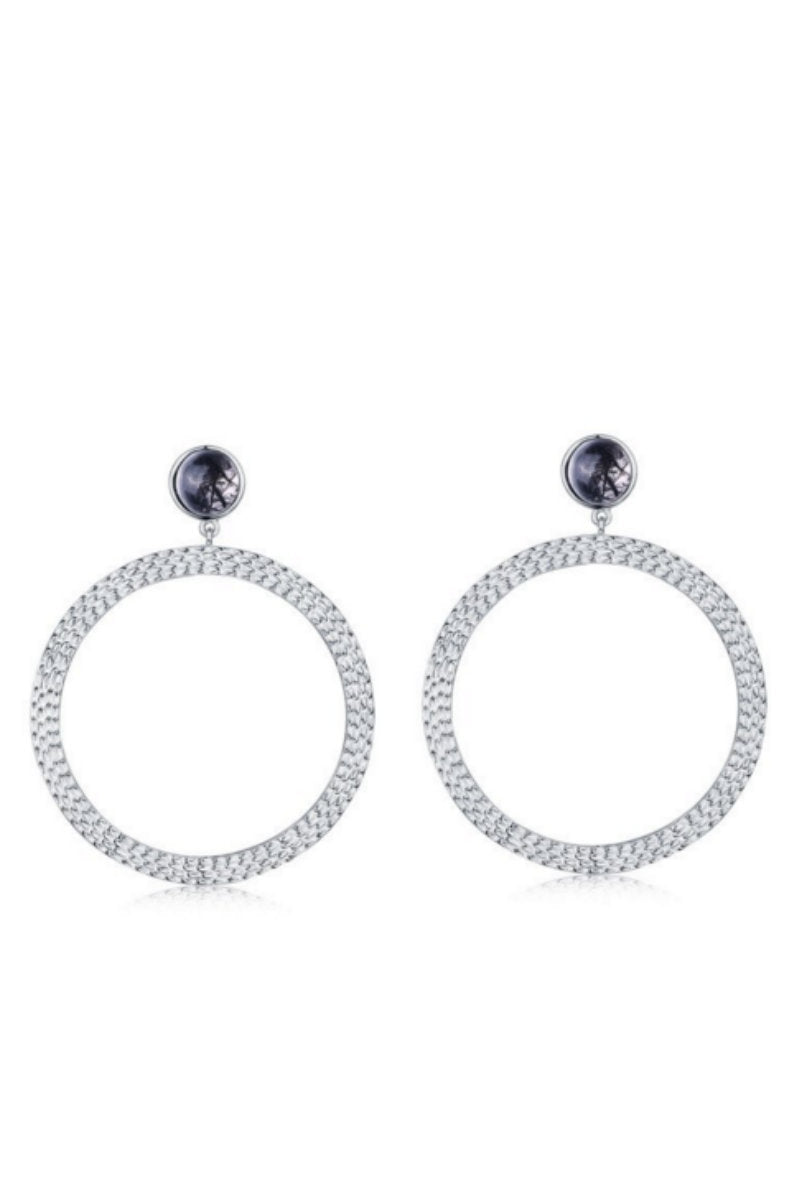 THE 'BIANCA' LARGE HOOP EARRINGS - SILVER