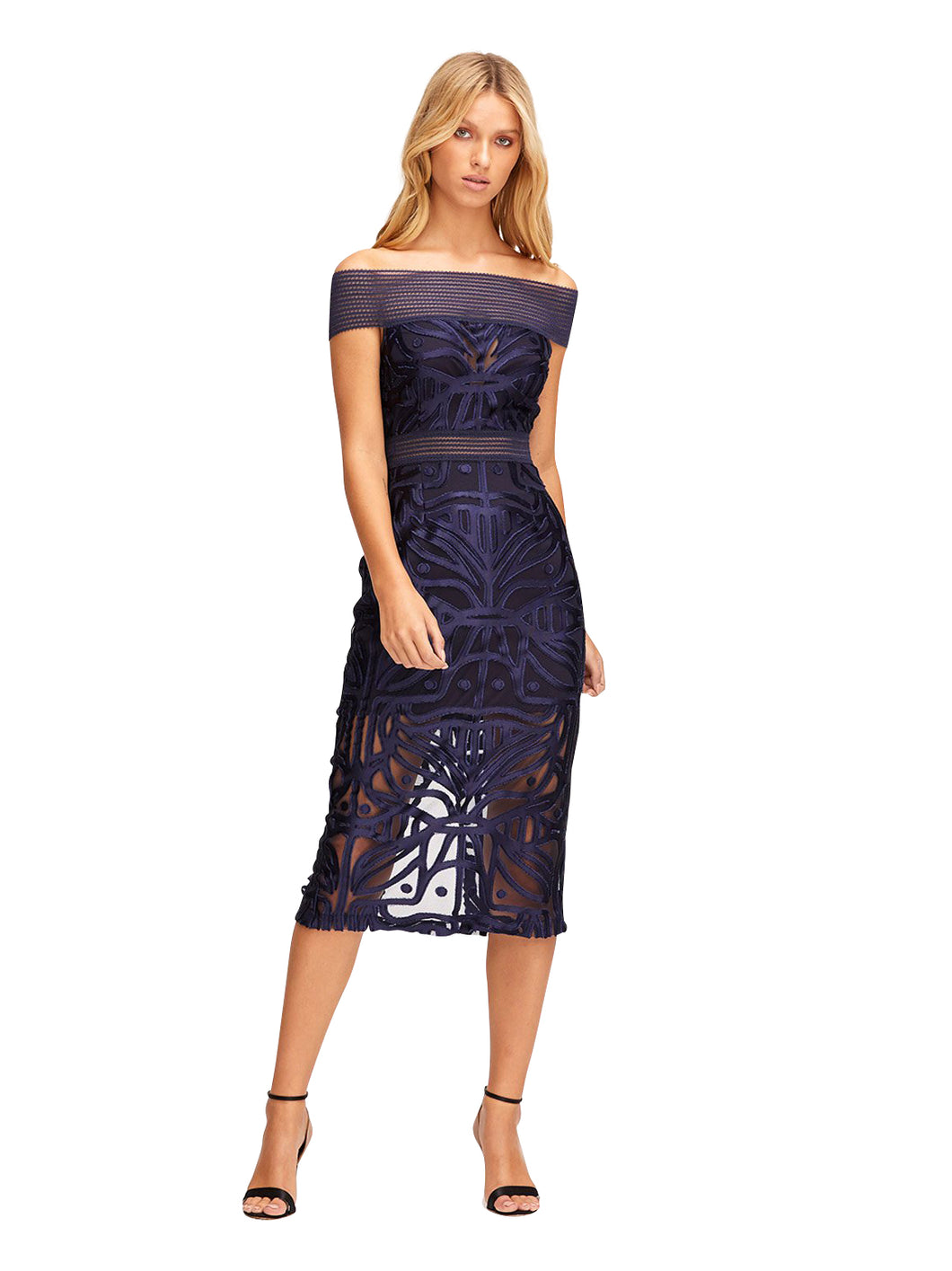 LUNAR ECLIPSE MIDI DRESS