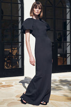 Load image into Gallery viewer, WINSLOW SHORT SLEEVE GOWN BLACK