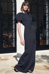 WINSLOW SHORT SLEEVE GOWN BLACK
