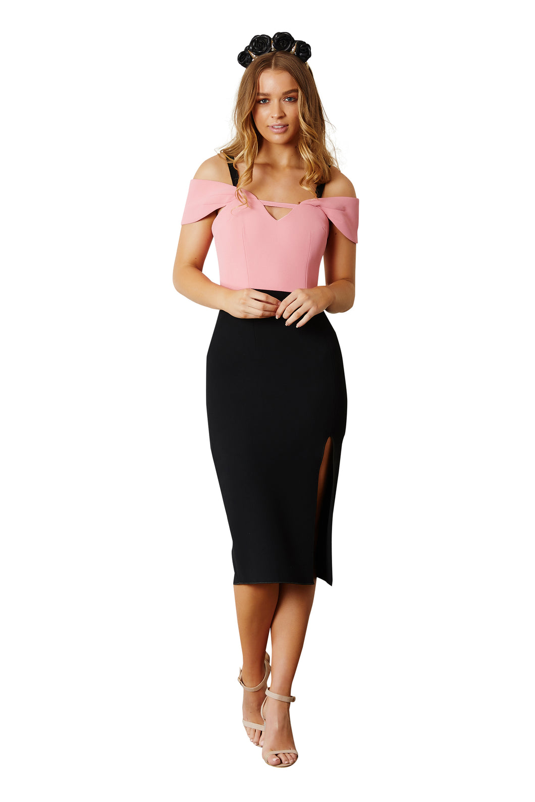 DOUBLE CREPE LILA DRESS