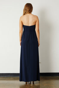 Silk Gown - Navy
