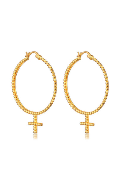 THE 'JERRY' FEMME HOOP EARRINGS - 18K GOLD