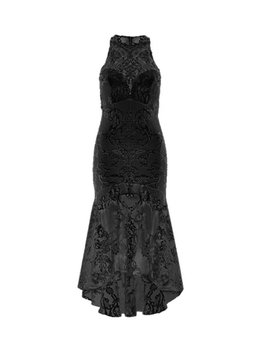 CHATEAU MIDI DRESS BLACK