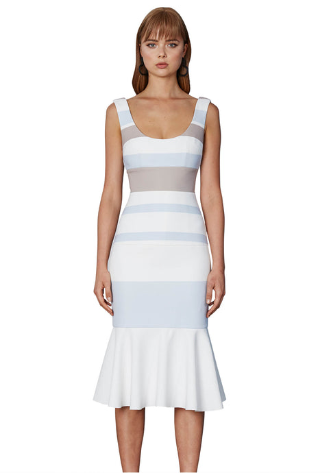 BOLD LINES PANEL DRESS - CL