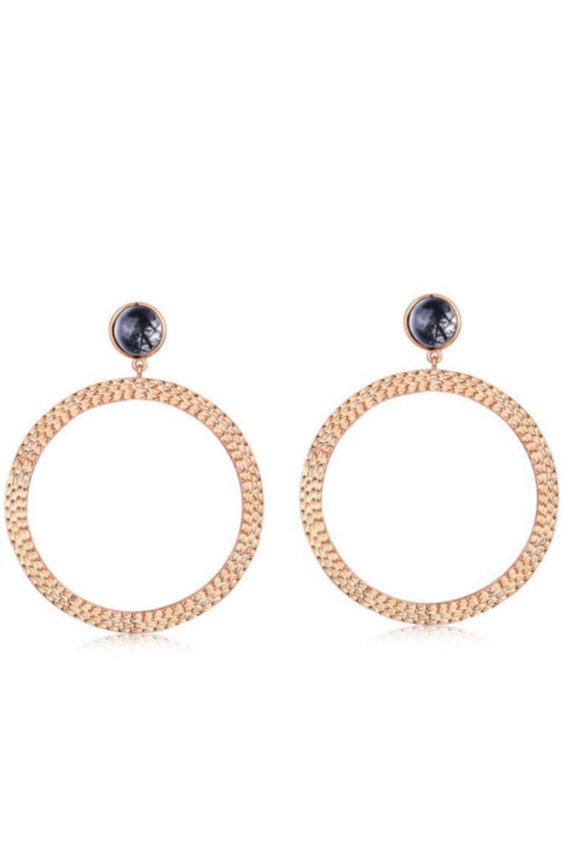 THE 'BIANCA' LARGE HOOP EARRINGS - 18K ROSE GOLD