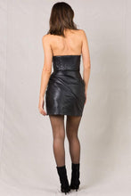 Load image into Gallery viewer, EVANGELIE LEATHER MINI DRESS