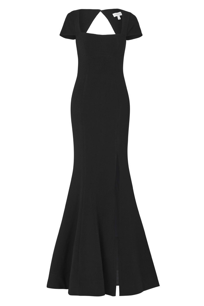 Adriatic Open Back Gown - Black