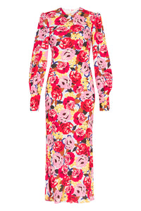 BLUME LONG SLEEVE MIDI DRESS