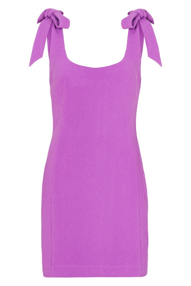 DAHLIA MINI DRESS - IRIS ORCHID
