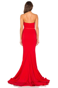 Adrianna Gown Red - back