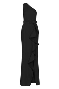 GRETA TIER GOWN BLACK