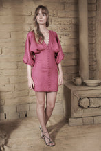 Load image into Gallery viewer, Isabella Linen Ramie Dress in Pink