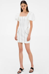 KALINDY IVORY MINI DRESS Ivory