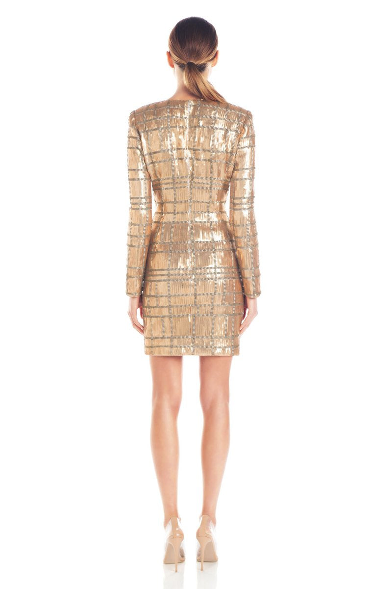 AVA SEQUIN DRESS | GOLD