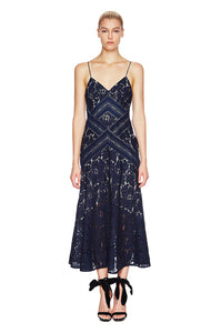 RAPTURE MIDI DRESS - Navy