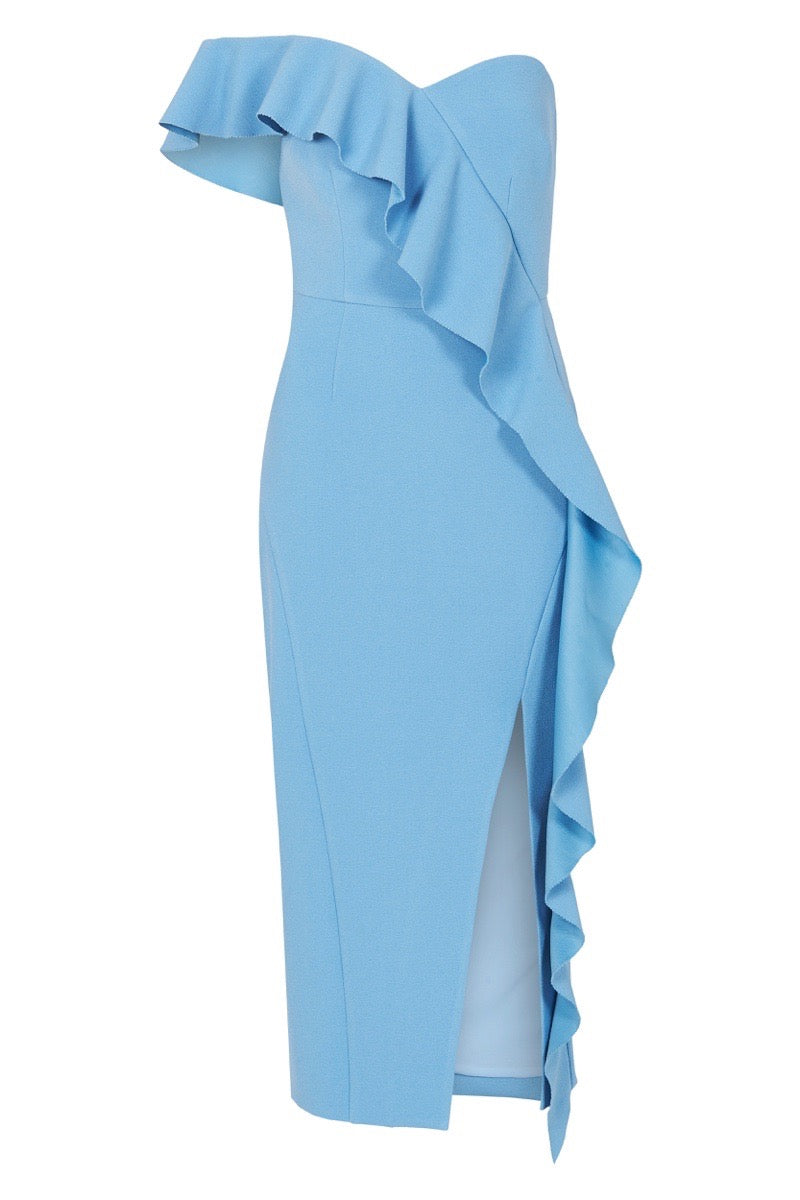 MONTECARLO STRAPLESS MIDI DRESS
