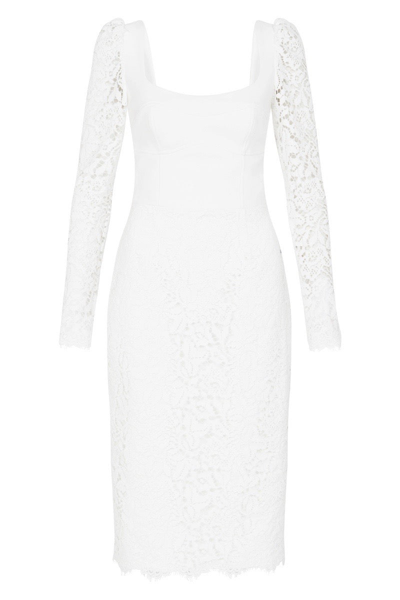 SAINT LACE DRESS - White
