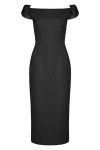 WINSLOW MIDI DRESS - BLACK