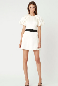 WINONA SHORT SLEEVE MINI DRESS IVORY