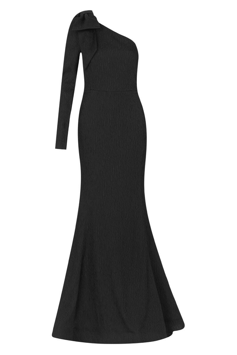 Harlow Bow Gown - Black