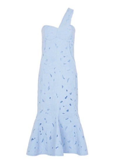 BENITO MIDI DRESS - BLUE