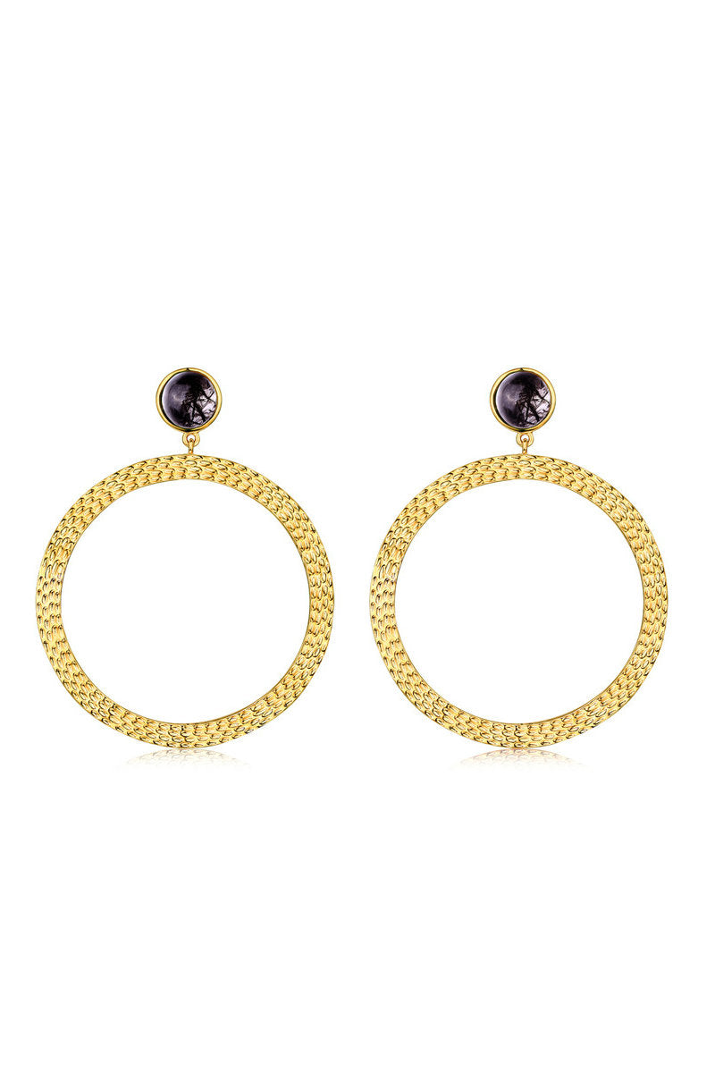 THE 'BIANCA' LARGE HOOP EARRINGS - 18K GOLD