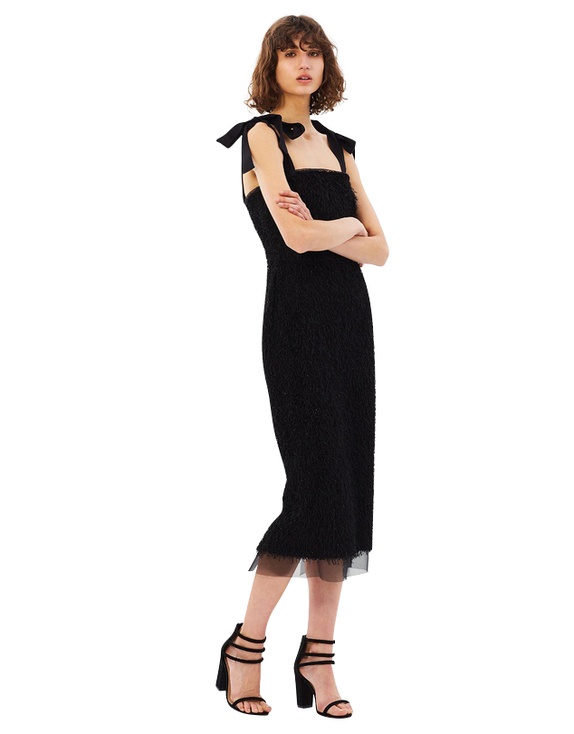 Martina Tie Shoulder Midi Dress