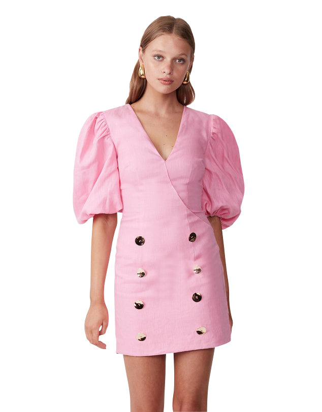 FLOATING ON A CLOUD MINI DRESS AZALEA PINK