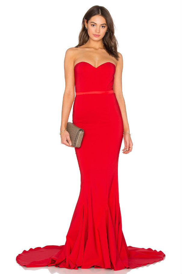 Adrianna Gown Red - front