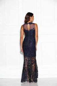 Breathless Love Gown - Navy