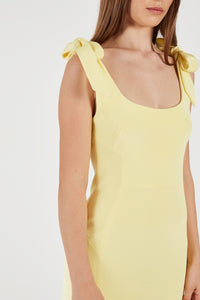 DAHLIA MINI DRESS - Yellow