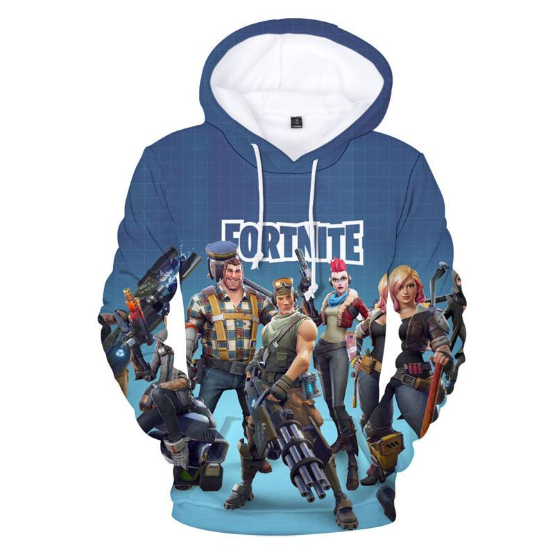 c4398bbb6c06 Youth   Adult Fortnite Print Hoodie With Hat