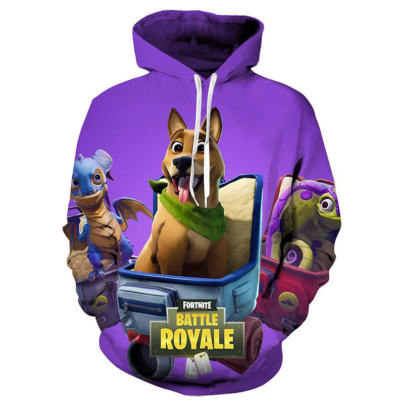 e4af76615 Fortnite Kids Clothes 3D Painted Fortnite Hoodie-USAHOO