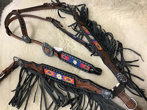 Headstall & Breast Collar Tack Set