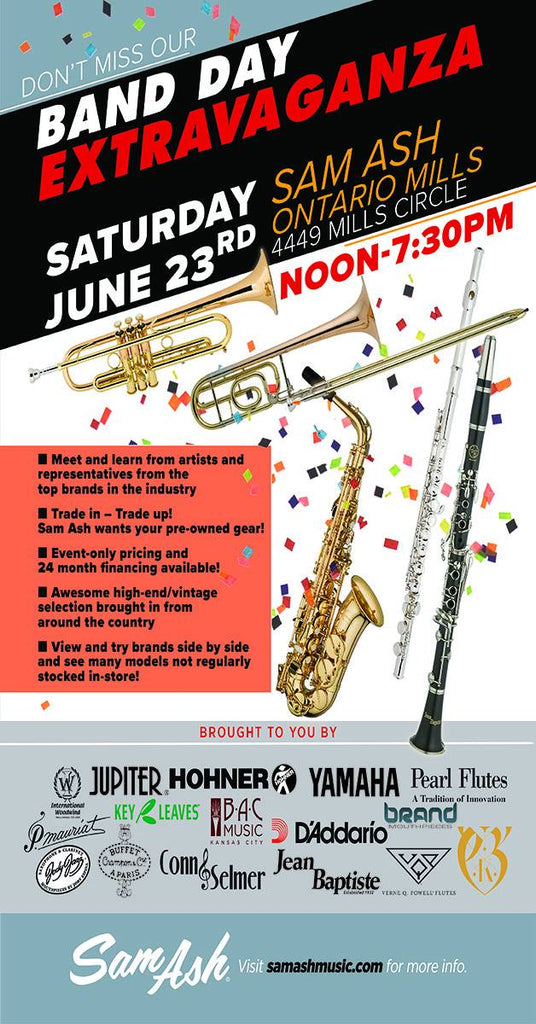 Sam Ash Band Day Extravaganza - June 23, 2018