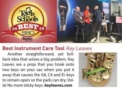 School Band and Orchestra magazine recommends Key Leaves