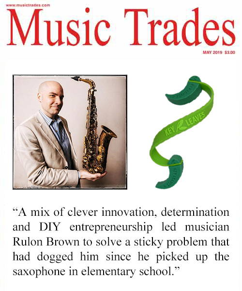 Music Trades Magazine features Key Leaves and founder Rulon Brown